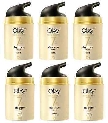 Olay Total Effects 7in1 Day Cream Normal SPF 15, Anti-Aging 50g UNBOXED (6 Pack)