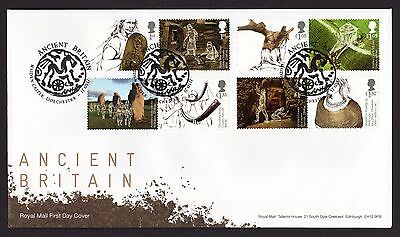 2017 ANCIENT BRITAIN STAMP SET FDC FIRST DAY COVER - Maiden Castle Handstamp