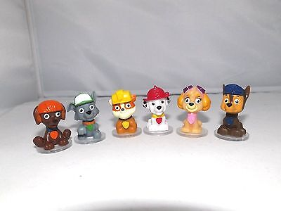 Paw Patrol figures, collect all 6 Chase, Rocky, Rubble, Zuma, Marshall, Skye