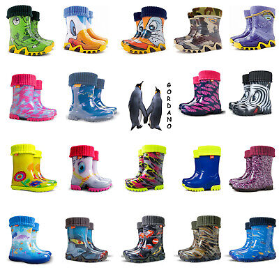 Exclusive Lux Kids Boys Girls Wellies Wellington Rainy Boots 4-13UK Fast Postage