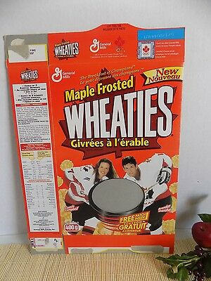 Vintage 1990s Cereal Box Maple Frosted Wheaties Team Canada Hockey Cassie Campbe