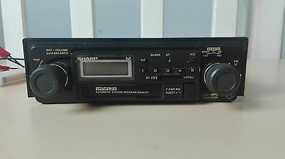 rare vintage autoradio cassette sharp rg 6600 aspm pll synthesizer made in japan