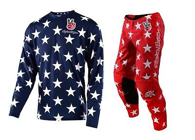 New 2017 Troy Lee Designs Gp Liberty Freedom Gear Combo Red/white/blue All Sizes