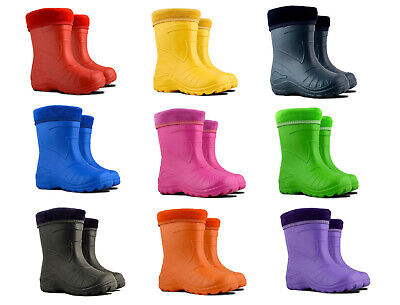 Ultra Light EVA Kids Girls Wellington Boots Rainy Snow Wellies