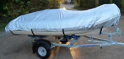 """Up to 3.8 m 12'5"""" Ducksback Inflatable RIB Boat / Dinghy Waterproof Silver Cover"""
