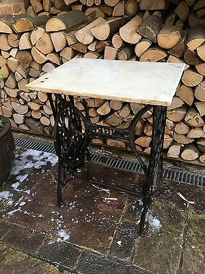 Cast Iron Singer Sewing Machine Base with marble top