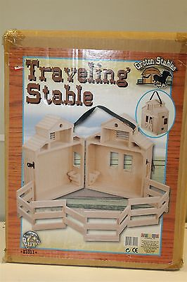 Horse And Rider  Groton Travel Stable  with Collapsible Corral #81011