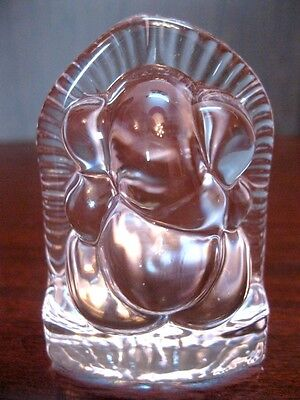 Crystal Ganesha Ganesh Hand carved in Pure Clear Natural Quartz Crystal~Blessed