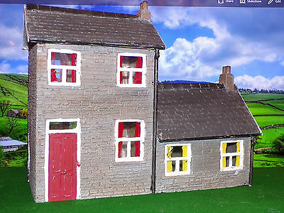 Garden Railway G Gauge 1.24th House and Shop With Extension Full Relief