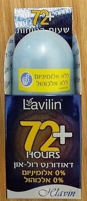Blue LAVILIN Roll On Long Lasting Deodorant For 72+Hours Unisex By Hlavin Israel