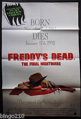 Freddys Dead The Final Nightmare On Elm Street Orig 1991 Cinema 1 Sheet Poster