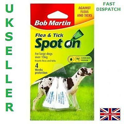 Bob Martin Dog Spot On Flea & Tick Treatment Twin Tube For Larger Dogs Over 15KG