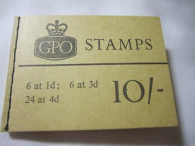 GPO Stitched Booklet of Mint Stamps 10/- August 1967
