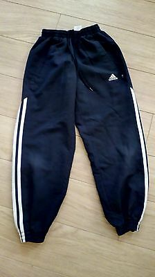 Navy Adidas Jogger Tracksuit  Bottoms Size 24 ( (Age 8-9)