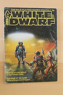 Classic WHITE DWARF issue 52 - UK Role playing magazine Jan 1984 AD&D Traveller