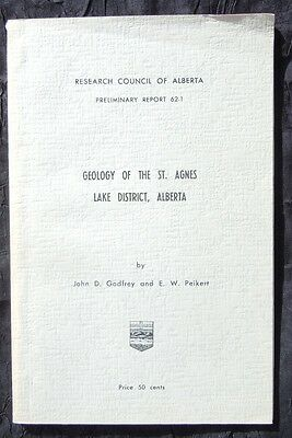 Research Council of Alberta Geology of the St. Agnes Lake District