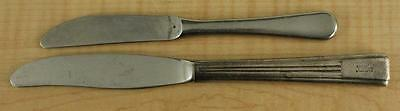 Vintage Advertising Flatware Silver Plate Stainless Steel Knife HILTON HOTEL 2PC