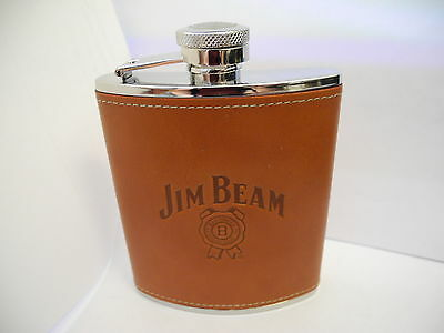 COLIBRI 6oz JIM BEAM STAINLESS STEEL FLASK  NEW I