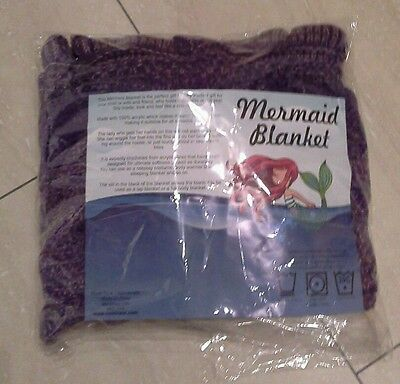 Kids Funky Purple Mermaid Fish Tail Blanket