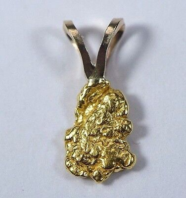 #577 Alaskan-Yukon BC Natural Gold Nugget Pendant 0.56 Grams Authentic