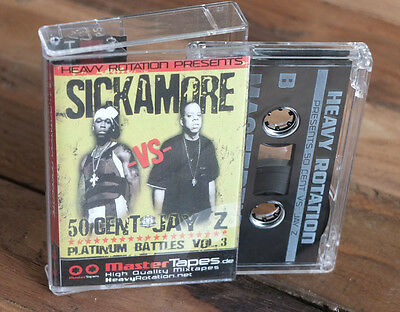"SICKAMORE - 50 Cent vs Jay-z"" Platinum Battles"" Mixtape Cassette Mastertapes DJ"