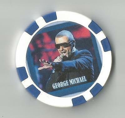 """George Michael English  """"singer-Songwriter"""" Collector Chip"""