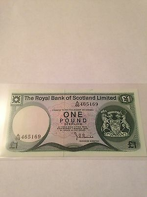 The Royal Bank Of Scotland £1 note 1974 Uncirculated
