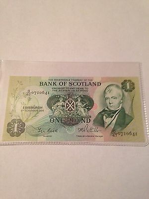 Bank Of Scotland £1 note 1984 Uncirculated