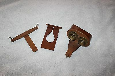 """ANTIQUE """"Stereo Graphoscope"""" Wood Stereoscopic Viewer .1896"""
