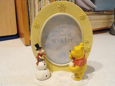 Classic Pooh Photo Frame Winter -- New By Michel Gift Boxed