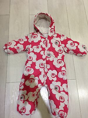 Girls Pink Snowsuit From Next Size 12-18 Months