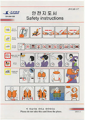 Safety Card - Air Koryo Tu-204-100