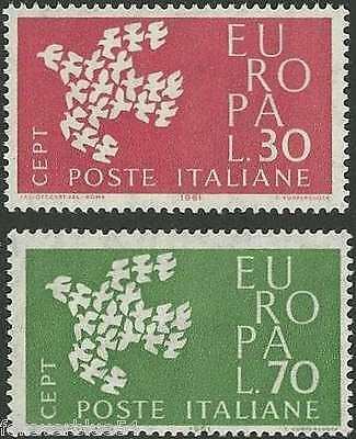 Italy 1961 SG 1066-1067  Sc 845-846 MNH  Europa Birds  combined postage