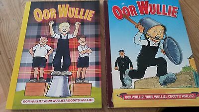 Oor Wullie Annuals x2 2012 & 2002  DC Thomson see pictures