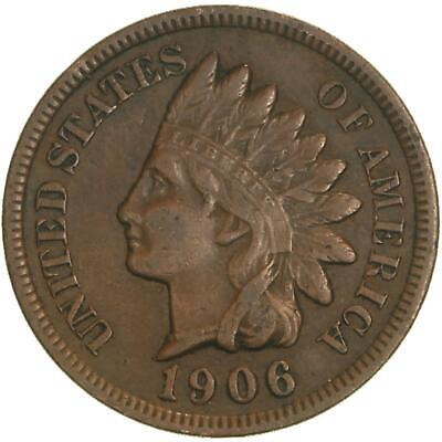 1906 Indian Head Cent Very Fine Penny VF