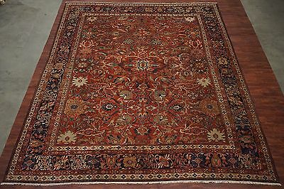 Antique 14X16 Sultanabad 1880's Persian Hand Knotted Wool Area Rug Carpet