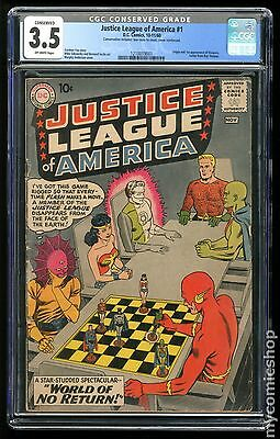 Justice League of America (1960 1st Series) #1 CGC 3.5 CONSERVED (1210019001)
