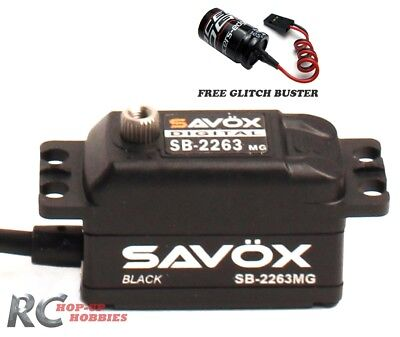Savox SB2263MG Black High Speed Low Profile Brushless Servo Glitch Buster