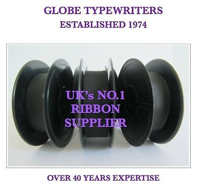3 x 'SILVER REED 500' *PURPLE* TOP QUALITY *10M* TYPEWRITER RIBBONS + EYELETS