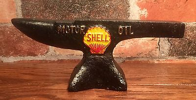 SHELL Motor Oil Gasoline 1927 Vintage Cast Iron Anvil
