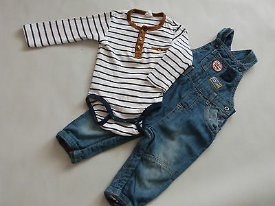 Baby Boys Trousers and Bodysuit 6-9 Months Set outfit winter top and pants