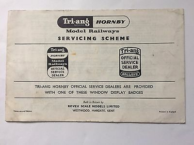 Vintage Tri-ang Hornby Model Railways Official Service Dealers List 32nd Edition