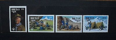 BHUTAN 1982 Boy Scouts 75th Anniversary. Set of 4. Mint Never Hinged. SG460/463.
