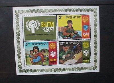 BHUTAN 1979 ICY Year of the Child. SOUVENIR SHEET. Mint Never Hinged. SGMS414.