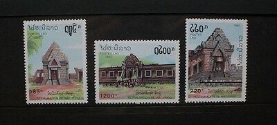 LAOS 1992 Restoration of Wat Phou. Set of 3. Mint Never Hinged. SG1302/1304.