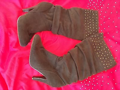 ladies Suede Knee High boots size 6