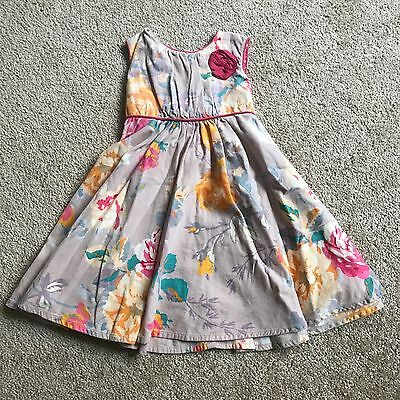 Monsoon Corduroy Floral Dress Baby Girl Size 6-12 Months