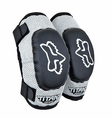 08038-BS Fox Youth Pee Wee Elbow Guards S/M Blk/Silv Motorcycle  MX ATV BMX Moto
