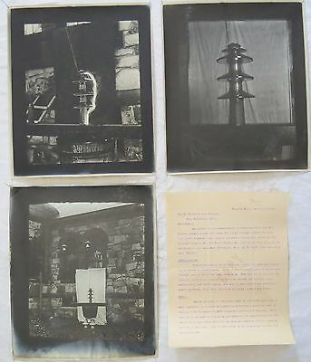Electric Insulator Order Letter&Arc Test Photo Lot Niagara Falls Old Vtg Antique