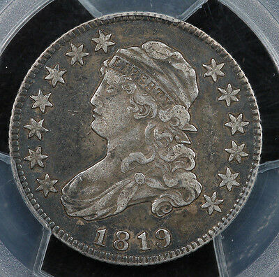 1819 Capped Bust Quarter Small 9 PCGS VF35